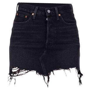 Deconstructed Skirt Ill Fated, Blacks, 25, Levis
