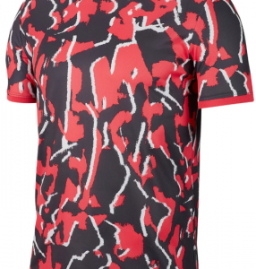 NIKE Dry Top team Print Red Mens