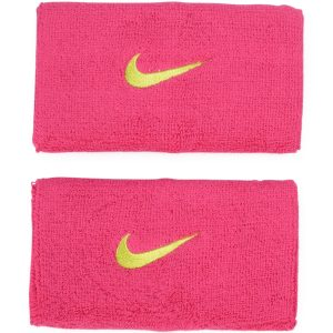 Nike Swoosh Doublewide Wristba, Fireberry/Volt, Onesize, Nike