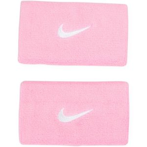 Nike Swoosh Doublewide Wristba, Pink/White, Onesize, Nike