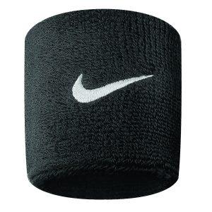 Nike Swoosh Wristbands 2 Pk, Black/White, Onesize, Nike