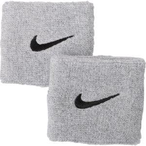 Nike Swoosh Wristbands 2 Pk, Matte Silver/Black, Onesize, Nike