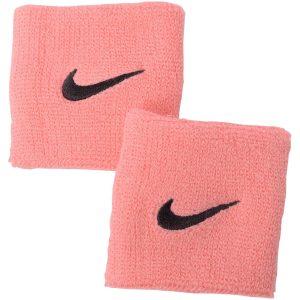 Nike Swoosh Wristbands 2 Pk, Pink Gaze/Oil Grey, Onesize, Nike
