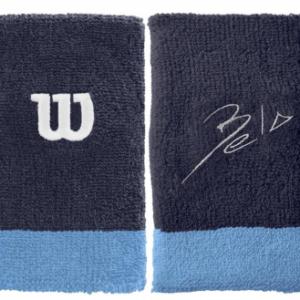 WILSON Bela Wide Wristband Blue 2-pack