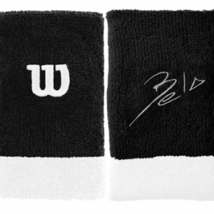 WILSON Bela Wristband Black 2-pack