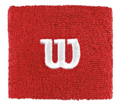 WILSON Wristband Short Red 2-pack