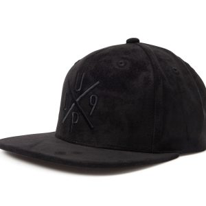 Up09 Velvet Snapback, Black/Black, Onesize, Varumärken