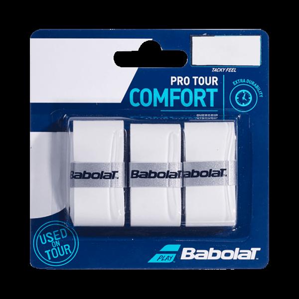 Babolat Overgrip Pro Tour Comfort 3-Pack   White