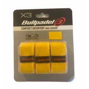 Bullpadel Comfort/Absorvent Padel Overgrip Gul - 3-pack