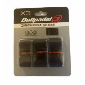 Bullpadel Comfort/Absorvent Padel Overgrip Svart - 3-pack