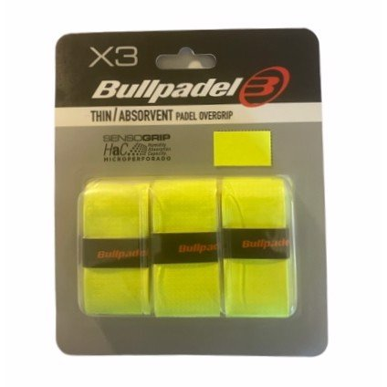 Bullpadel Thin/Absorvent Padel Overgrip Neon 3-Pack